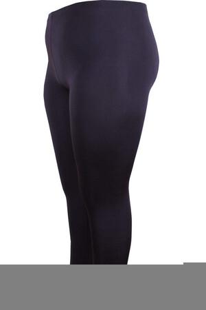 Angelino Fashion - Büyük Beden Pantolon Boy Dikişli Tayt 22918 Siyah (1)