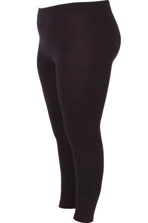 Angelino Fashion - Büyük Beden Düz Renk Tayt 22639 Siyah (1)