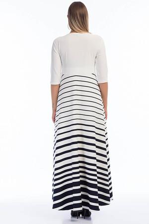 Angelino Butik - Büyük Beden Elbise Çizgili KL8003u (1)