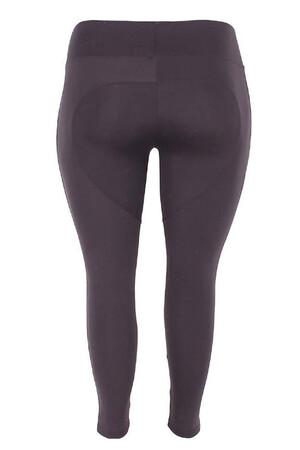 Angelino Fashion - Büyük Beden Full Toparlayıcı Yüksek Bel Tayt 23977 Siyah (1)