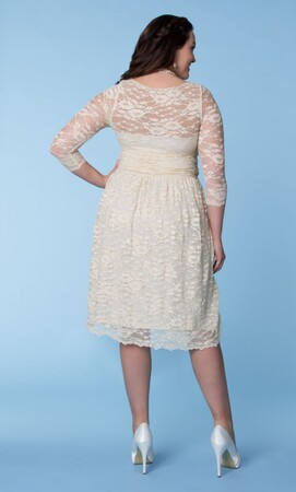 Mangolino Dress - Büyük Beden Gelinlik Nikah Elbisesi Beyaz MD7001 (1)