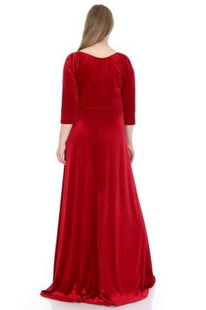 Angelino Butik - Büyük Beden Kadife Uzun Abiye Elbise KL56 (1)