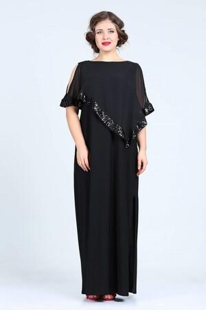 Angelino Butik - Büyük Beden Kadın Uzun Abiye Elbise KL8022U (1)