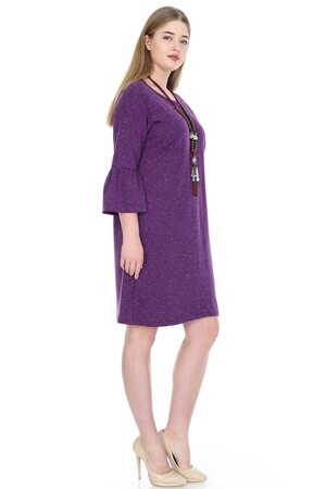 Angelino Fashion - Büyük Beden Kampanyalı Elbise KL807-19krcmr (1)