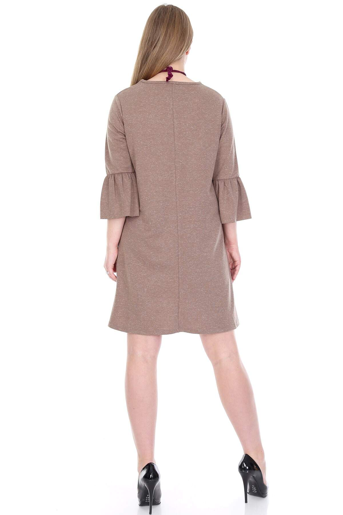 Büyük Beden Kampanyalı Elbise KL807-19vzn