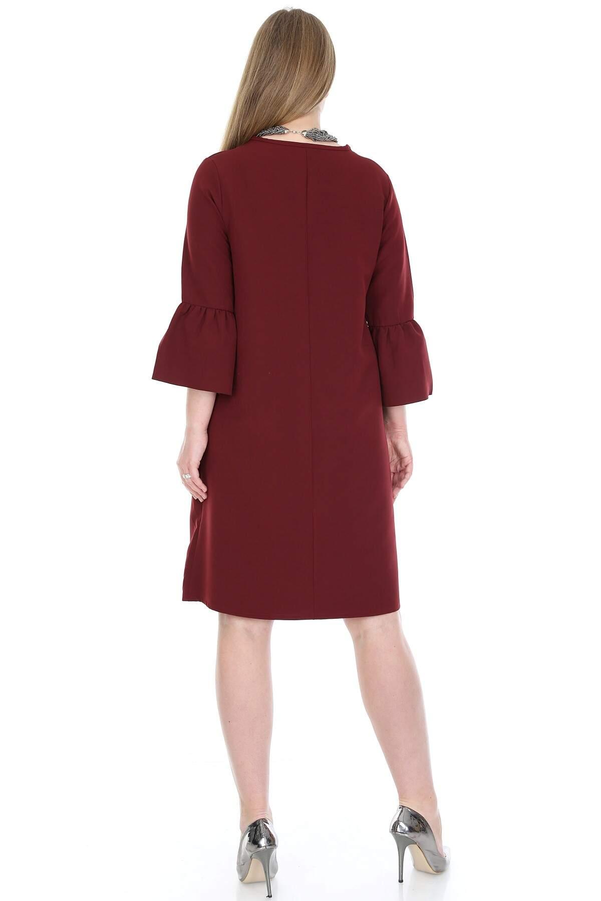 Büyük Beden Kampanyalı Elbise KL807bd