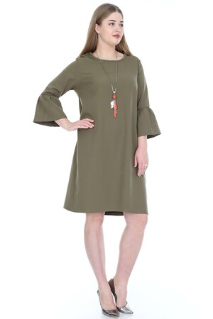 Angelino Butik - Büyük Beden Kampanyalı Elbise KL807hk (1)