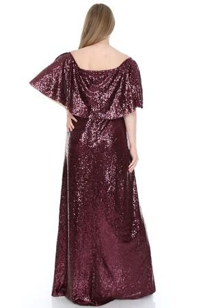 Angelino Butik - Büyük Beden Omzu Ayarlı Payet Elbise KL779up (1)