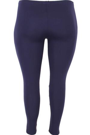 Angelino Fashion - Büyük Beden Pantolon Boy Dikişli Tayt 22918 Lacivert (1)