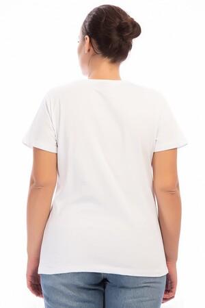Angelino Butik - Büyük Beden Penye Tişört FR307 mv (1)