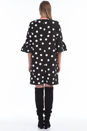 Angelino Butik - Büyük Beden Puantiyeli Elbise KL807 Puantiyeli (1)