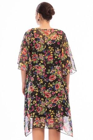 Angelino Butik - Büyük Beden Salaş Şifon Elbise KL813 (1)