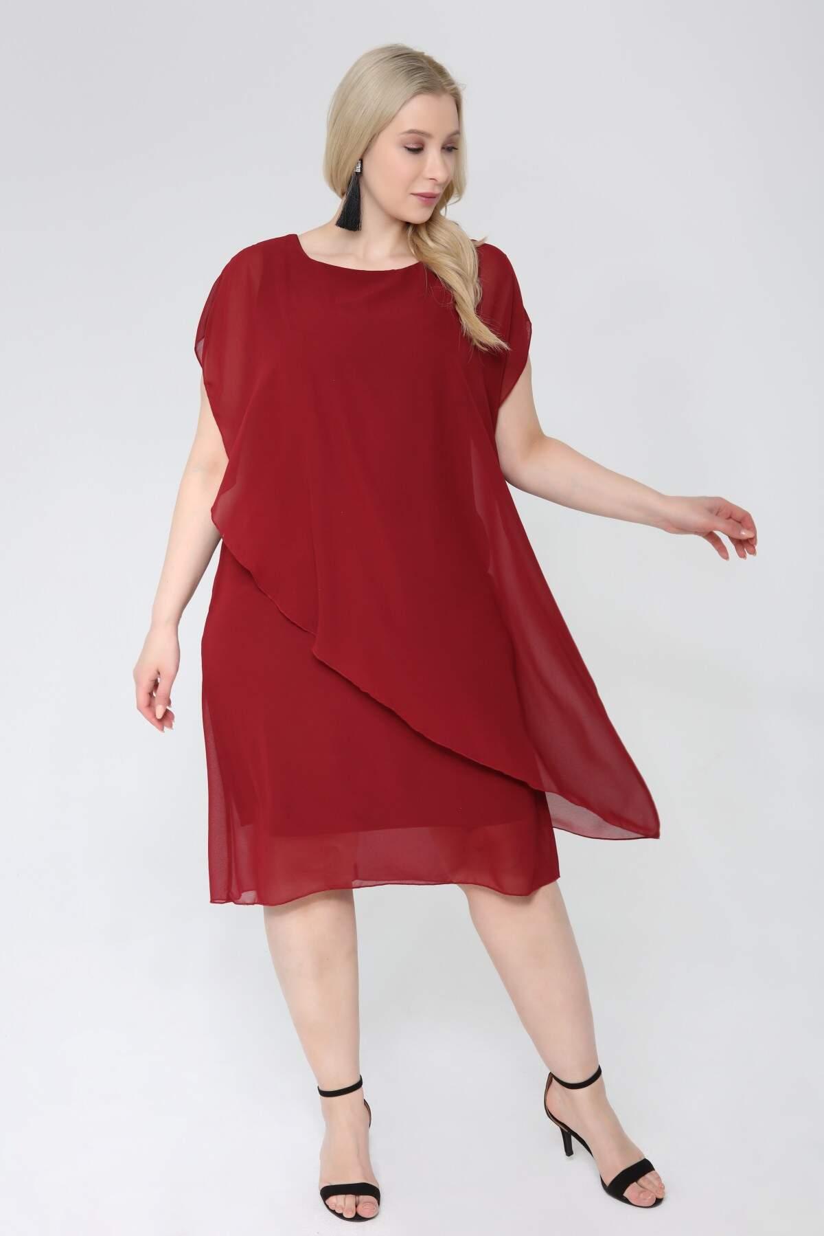Büyük Beden Şifon Abiye Elbise KL89001