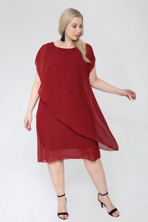 Angelino Butik - Büyük Beden Şifon Abiye Elbise KL89001 (1)
