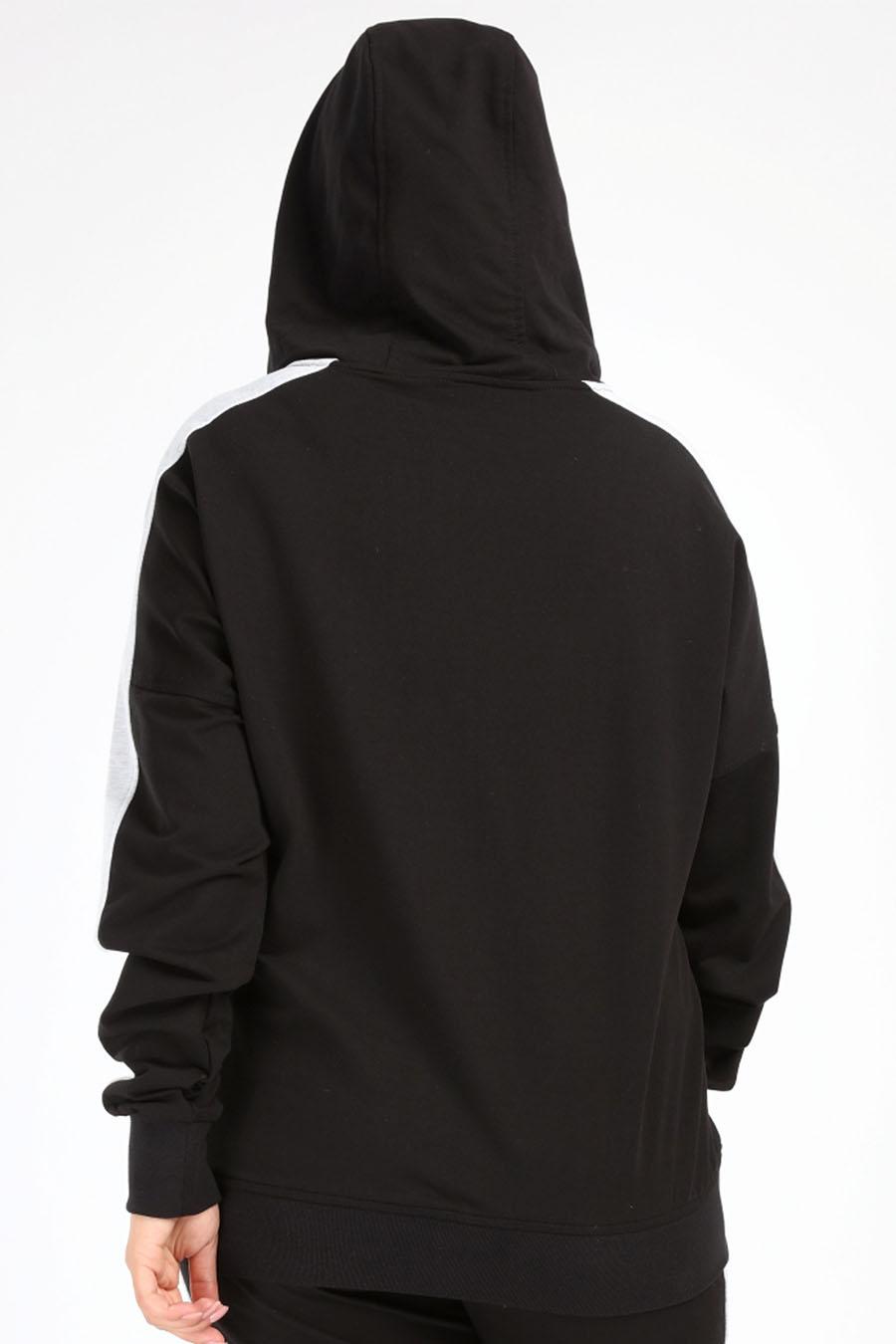 Angelino Butik - Büyük Beden Spor Giyim Fermuarlı Kapüşonlu Sweatshirt 2527-u (1)