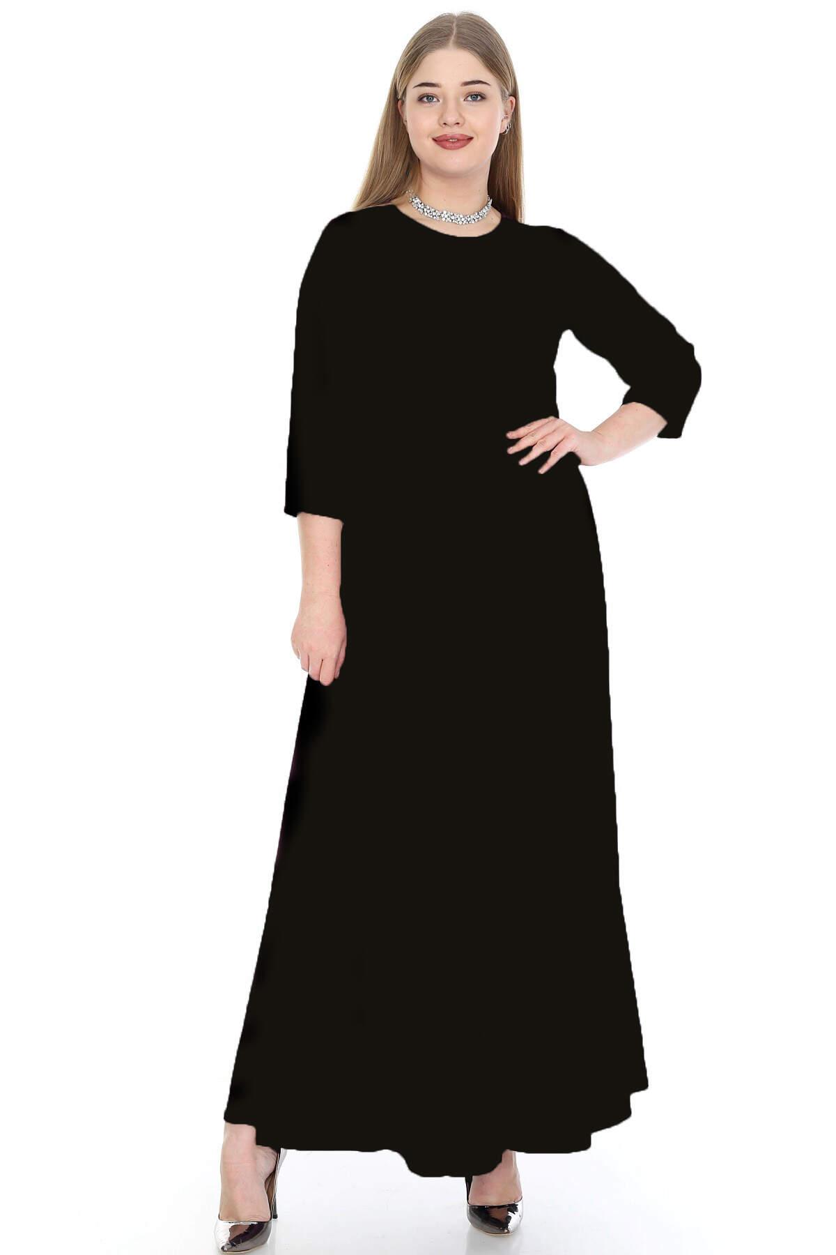 Büyük Beden Tesettür Kibar Uzun Elbise KL795