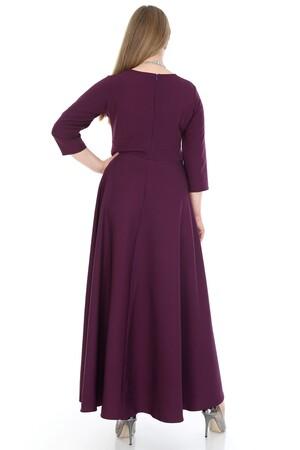 Angelino Butik - Büyük Beden Tesettür Kibar Uzun Elbise KL795 (1)