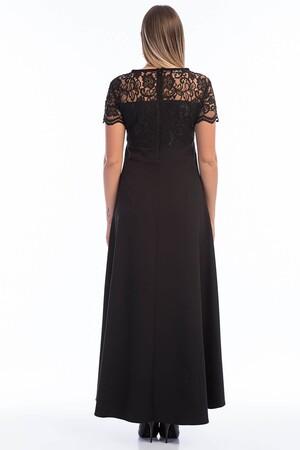 Angelino Butik - Büyük Beden Uzun Abiye Dantelli Elbise KL802 (1)