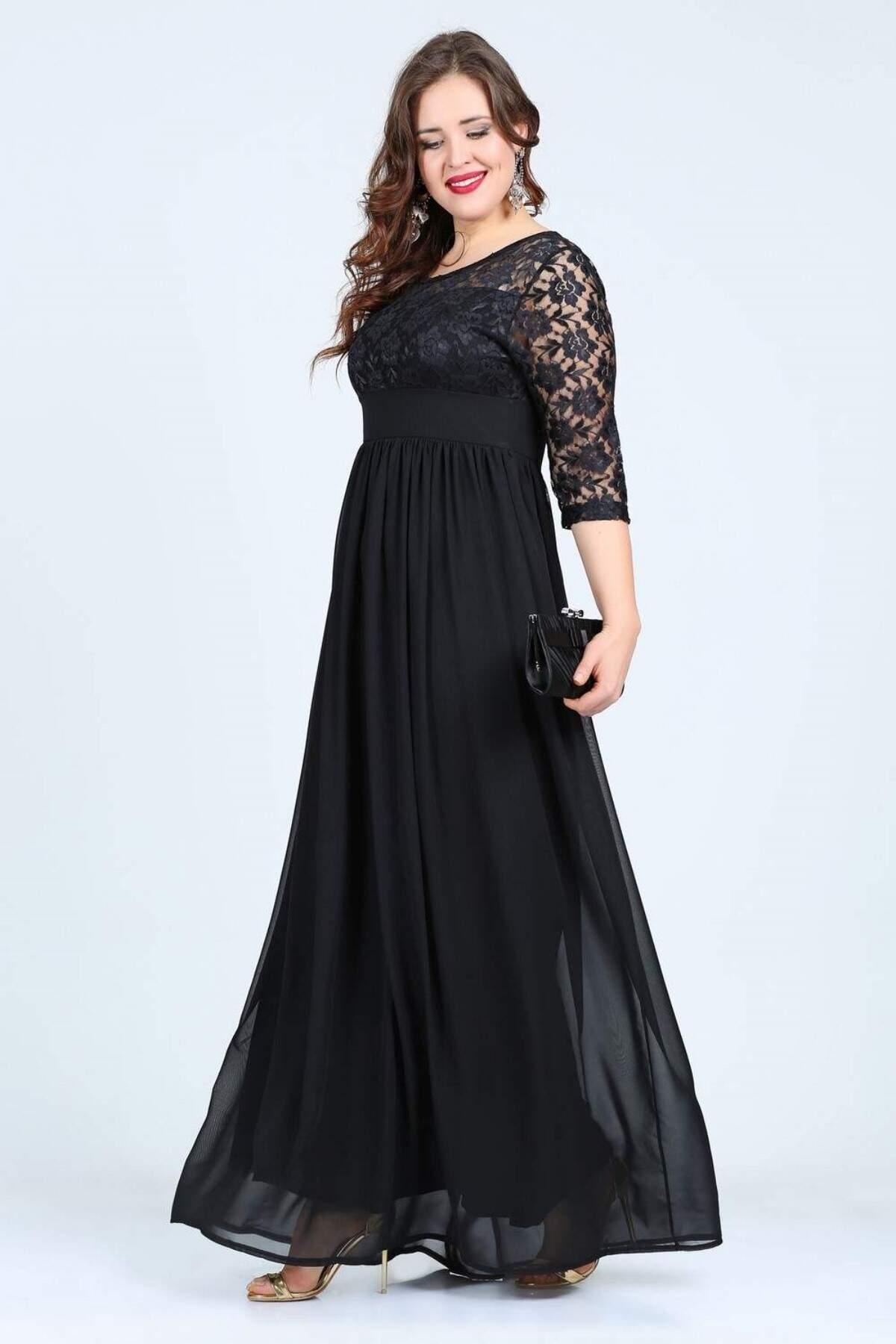 Büyük Beden Uzun Abiye Elbise KL4009K