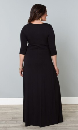 Mangolino Dress - Büyük Beden Uzun Abiye Elbise Siyah MD60 Mangolino Dress (1)
