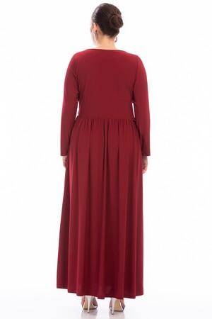 Angelino - Büyük Beden Uzun Elbise PNR5089 (1)