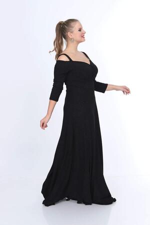 Angelino Butik - Büyük Beden Uzun Fruko Elbise NV7005 (1)
