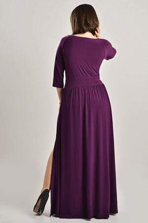 Angelino - Büyük Beden Yırtmaçlı Abiye Elbise MD57 (1)