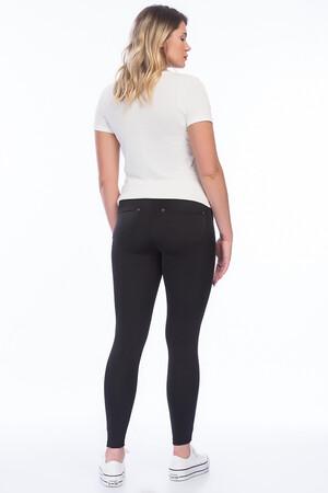 Angelino Fashion - Büyük Beden Yüksek Bel Cepli Tayt Pantolon 44035 Siyah (1)
