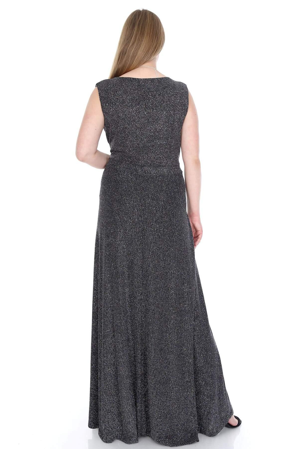 Büyük Beden Zarif Uzun Abiye Elbise KL128