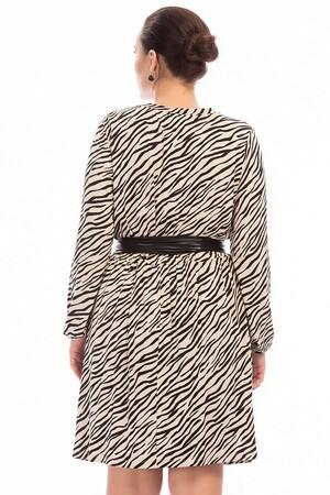 Angelino Butik - Büyük Beden Zebra Elbise FR888 (1)