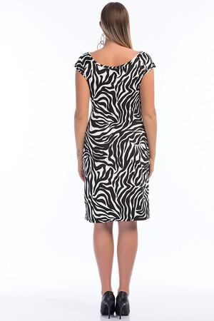 Angelino Butik - Büyük Beden Zebra Kısa Likralı Elbise PNR10 (1)