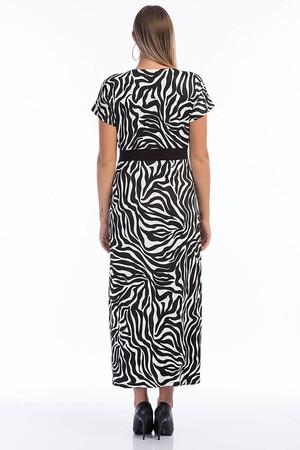 Angelino Butik - Büyük Beden Zebra Likralı Elbise PNR8888 (1)