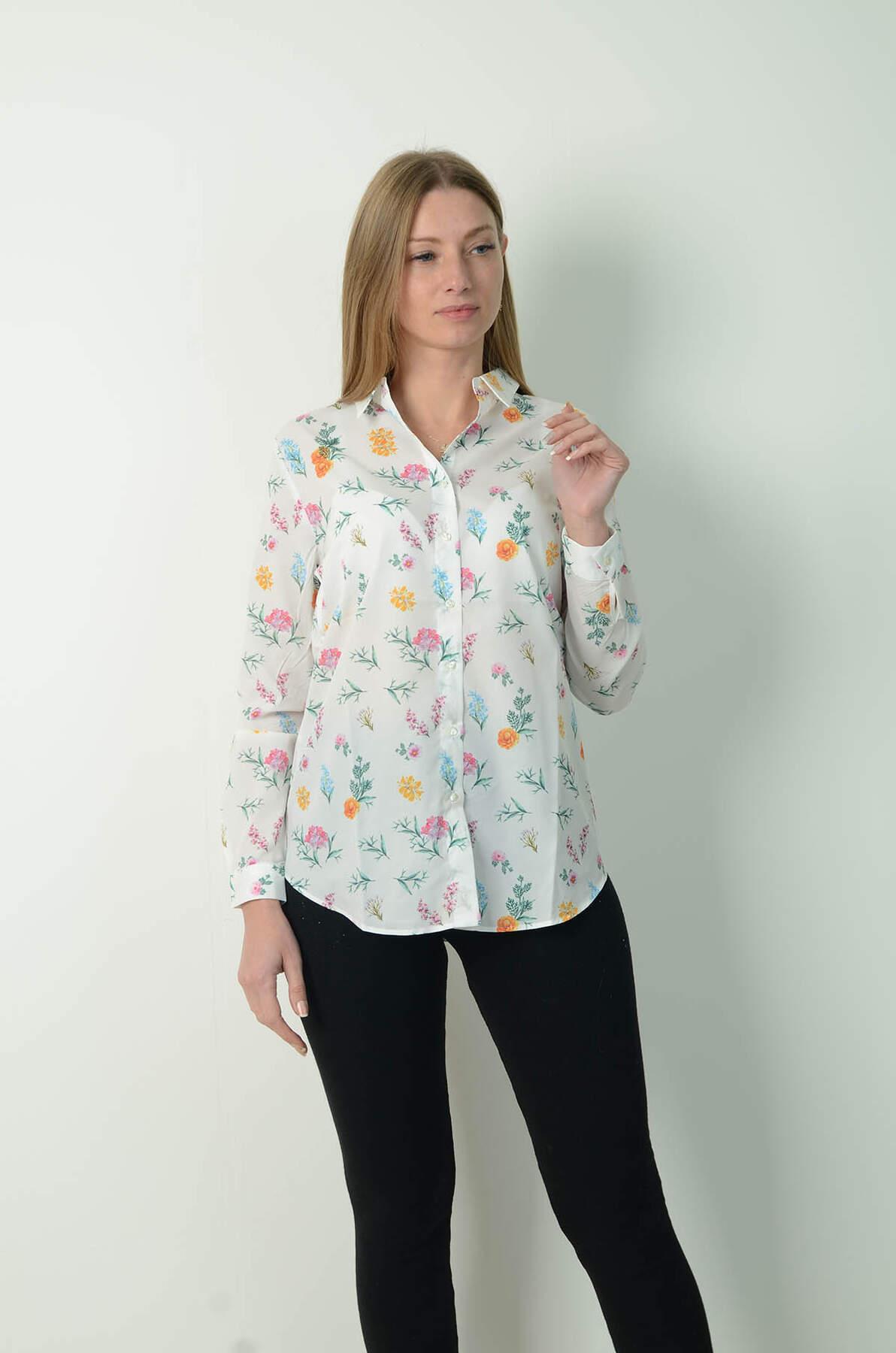 Çiçek Baskılı Gömlek 70178
