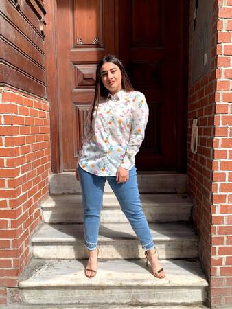 Angelino Butik - Çiçek Baskılı Gömlek 70178 (1)
