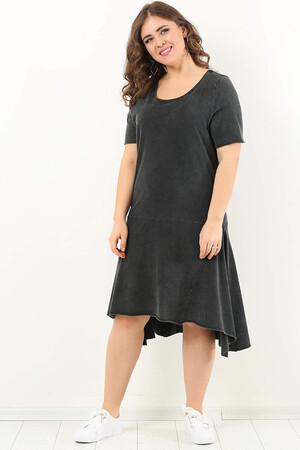 Angelino Style - DD2403 Bol Salaş Spor Büyük Beden Elbise (1)