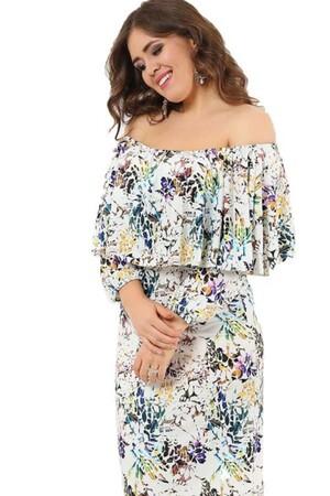 Angelino Style - Yakası Ayarlı Kollu Kolsuz Uzun Abiye Elbise DD779U-20 (1)