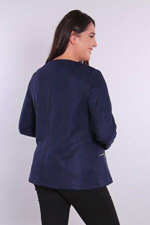 - Fermuarlı Lacivert Süet Ceket (1)