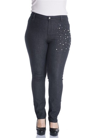 - İnci Taşlı 5 Cep Denim Pantolon (1)