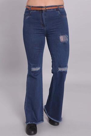 - İspanyol Paça Mavi Denim Pantolon (1)