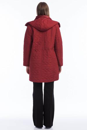 Angelino Fashion - Kadın Büyük Beden İçi Peluş Kürklü Kapşonlu Mont MD1323 - MD1324 Bordo (1)