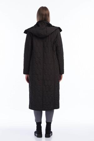 Angelino Fashion - Kadın Büyük Beden İçi Peluş Kürklü Kapşonlu Uzun Mont MD1054 (1)