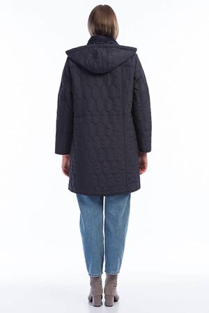Angelino Fashion - Kadın Büyük Beden İçi Peluş Kürklü Kapşonlu Mont MD1326 Lacivert (1)