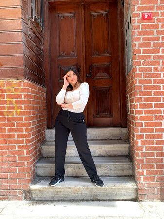 Angelino Fashion - Büyük Beden Kadın Esnek Eşofman Alt 44614 Siyah (1)