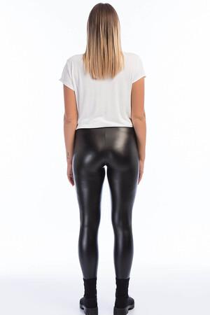 Angelino Fashion - Kadın Deri Büyük Beden Tayt 24023 Siyah (1)