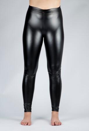 Angelino Fashion - Kadın Deri İçi Şardonlu Büyük Beden Tayt Siyah 24100 (1)
