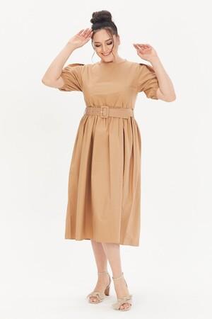 - Kemerli Poplin Elbise (1)