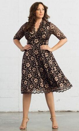 Angelino Style - Kiyonna Marka Likralı Büyük Beden Abiye Elbise (1)