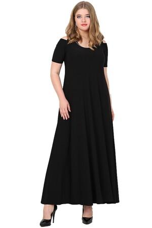 Angelino Butik - Büyük Beden Omzu Yırtmaçlı Uzun Abiye Elbise KL1101Z (1)