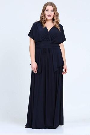 Angelino Style - KL26003 Lacivert Abiye Elbise (1)