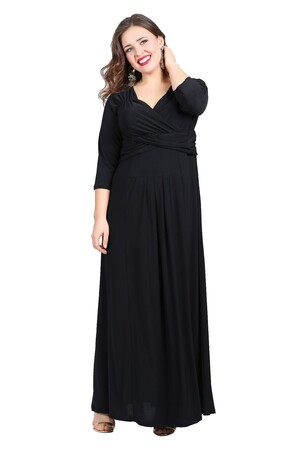Angelino Butik - Büyük Beden Uzun Abiye Elbise KL60 (1)
